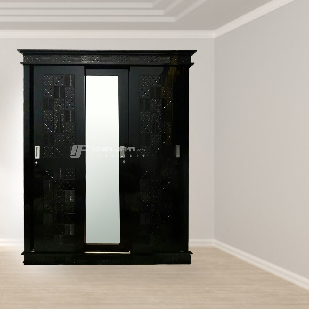 Black Thifany Sliding Cupboard